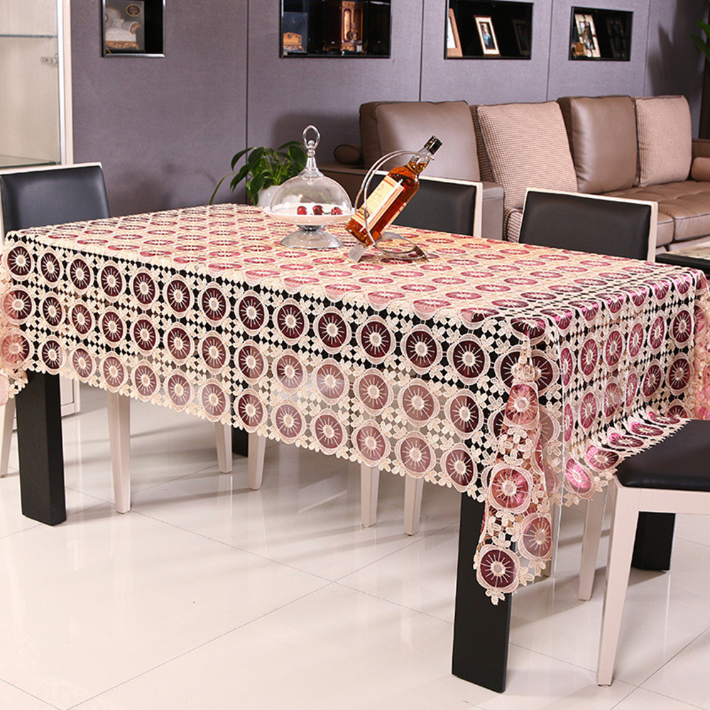 2016new Hot Sale Hight Grade Lace Table Cloth Home Party Coffee Table Cloth Hotel Restaurant Tablecloths