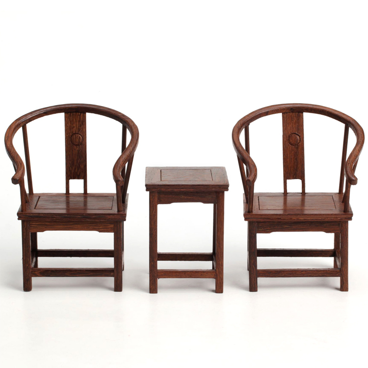 F miniature furniture mahogany crafts wenge chair ming and qing model