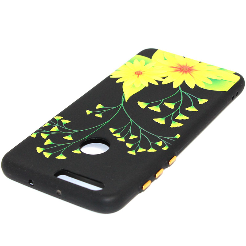 3D Relief flower silicone case huawei honor 8 (23)