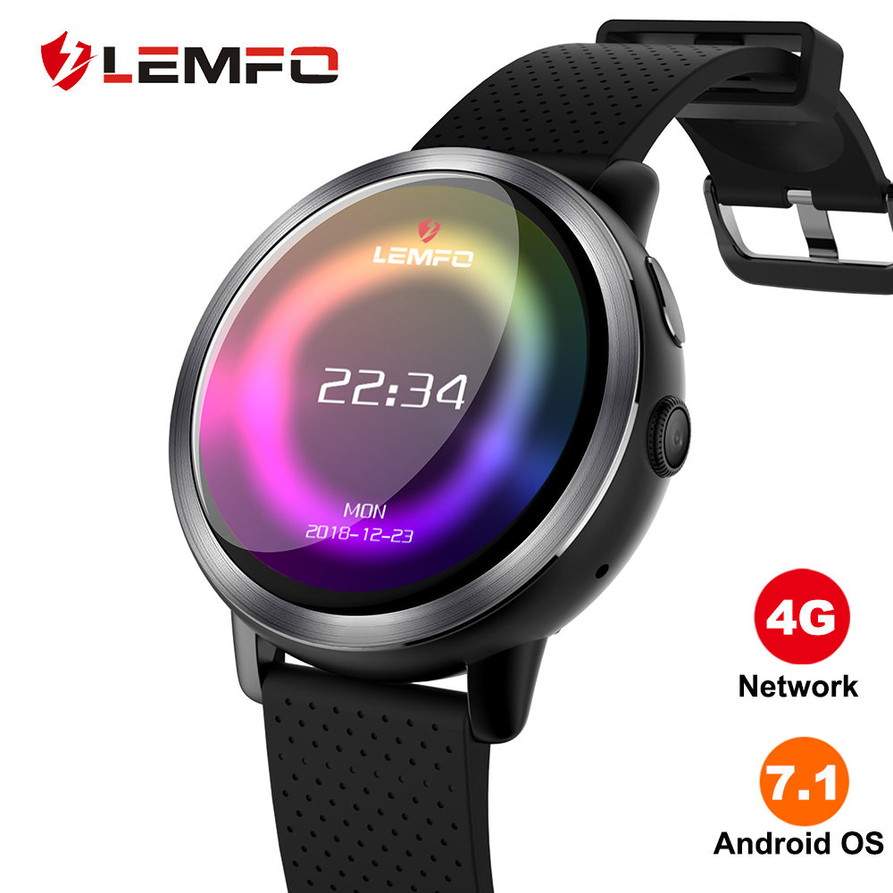 LEMFO LEM8 Smart Watch Android 7.1 LTE 4G Sim WIFI 1.39 Inch 2MP Camera GPS Heart Rate New Year Gifts Smartwatch for Men Women