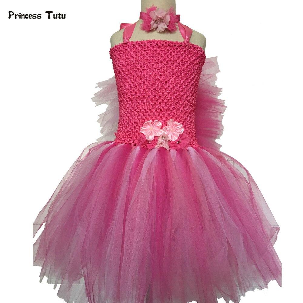 Tienda Online Rojo de la Rosa, Verde, naranja flor Tutu vestido ...