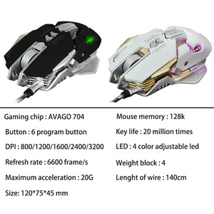 Image 5 - G9 Professional Macro Programming Wired Gaming Mause 3200DPI Adjustable 7 Buttons USB Optical Gamer Mouse Mice For PC Computer