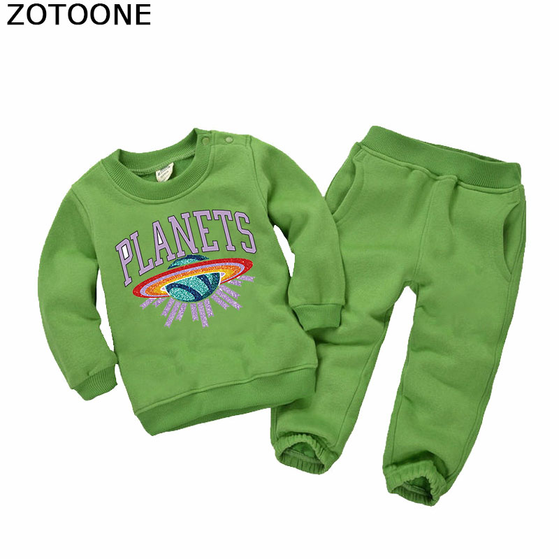 ZOTOONE Planets Iron on Transfers Patches Space Patch for Clothing Shirts Diy Decorations Heat on Clothes Irons Parches for Kids in Patches from Home Garden