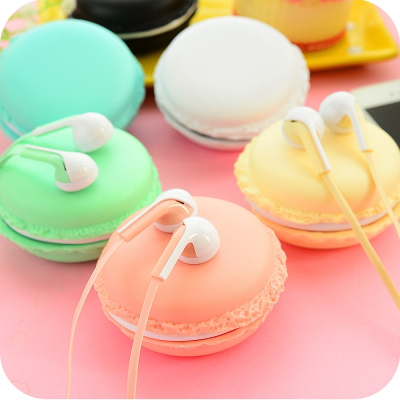 2017 Macaroon Stereo Earphones 3.5mm In Ear Wire Control Earphone With Mic for Xiaomi Samsung iphone 6 6s 5 Smartphones PC yl in ear earphones w mic line control for samsung galaxy n7100 note 3 n9000 pink 112cm