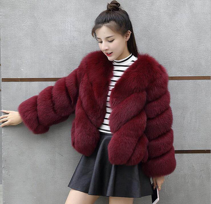 Smart Folobe Vintage Fluffy Faux Fur Coat Women Short Furry Fake Fur Winter Outerwear Pink Coat 2018 Autumn Casual Party Overcoat Latest Technology