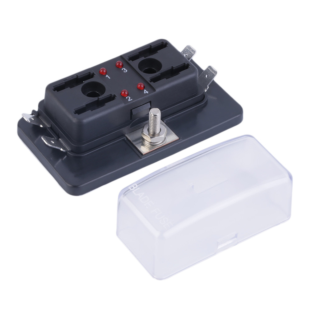 Car Safe 4 Way Circuit Car Automotive ATC ATO Fuse Box For Middle Size  Blade Auto Modified Accessories-in Fuses from Automobiles & Motorcycles on  ...