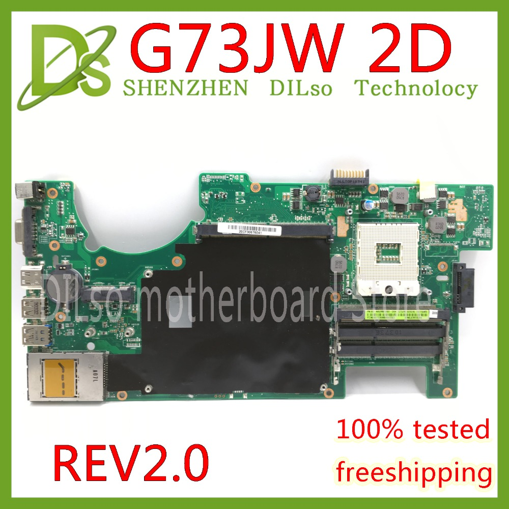 цена KEFU G73JW For ASUS G73 G73J G73JW mainboard 4 slots RAM laptop motherboard 2D Connector REV2.0 Test work 100%