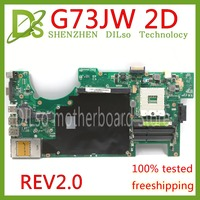 KEFU G73JW For ASUS G73 G73J G73JW mainboard 4 slots RAM laptop motherboard 2D Connector REV2.0 Test work 100%