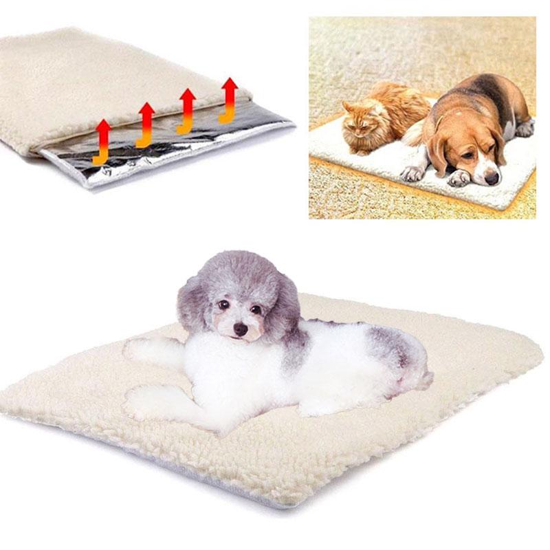 Self Heated Pet Bed Mat Cat Rug Dog Carpet Winter Keep