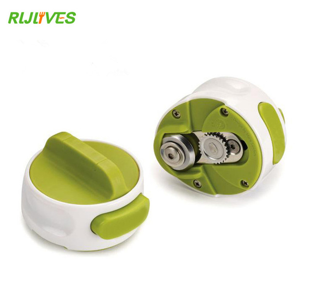 1 Pc Round Can Opener Stainless Steel Easy Manual Rotation Canned Fruit Luncheon Meat Non-slip Openers Kitchen Tools 3