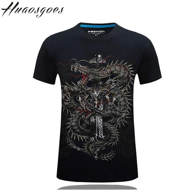 0203fc5ff8adc0 Huaosgoes 3D T Shirt Men 5-6XL Mens Short Sleeve Tshirt Dragon sward Brand Funny  T Shirts Vintage Chinese Style Streetwear
