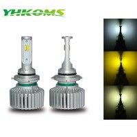 YHKOMS LED H1 H3 9005 HB3 9006 HB4 H8 H9 H11 880 881 H27 LED Bulb 6000K 3000K 4300K Car Headlight 3 Colors White Yellow Light