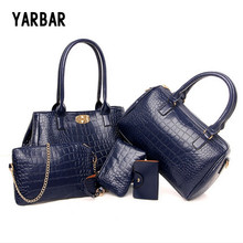 New 5Psc Casual Women Bag Set  PU Leather Brand Designer Handbags Wallet Key Bags Lady Bag Set Women Bags Set And Wallet Set