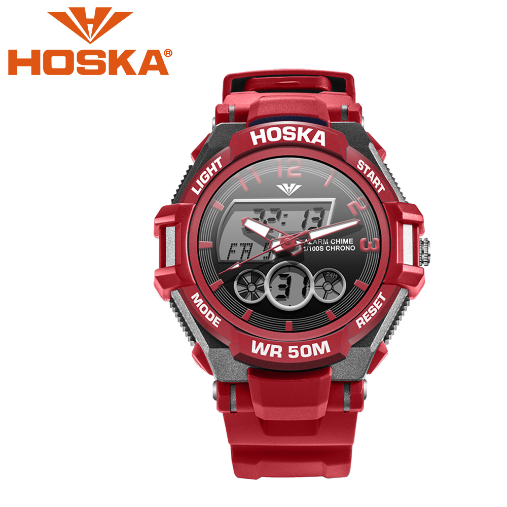2017 new HOSKA girl's sport Quartz watch student women's watches digital watch boy's sport LED digital watch waterproof 50M все цены