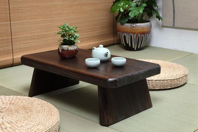 Mesa de Chá japonês Antigo Retângulo 60*35 cm De Madeira Paulownia Tradicional Asiático Mobiliário Sala de estar Mesa de Jantar Piso de Baixa
