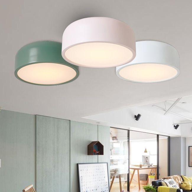 Modern Simple Round Colourful LED Ceiling Light Macarons Art Ceiling Mounted Lamp For Kitchen Bedroom Foyer Children's Room цена 2017