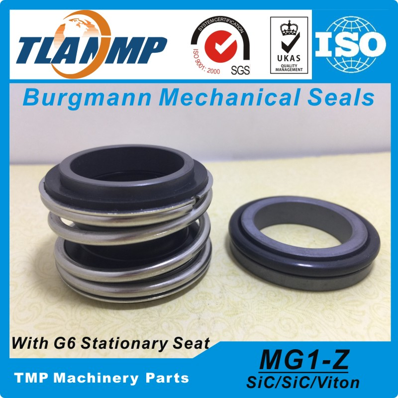 MG1 95 Z MG1 95 G6 Burgmann Mechanical Seals Rubber Bellow with G6 stationary Seat Material