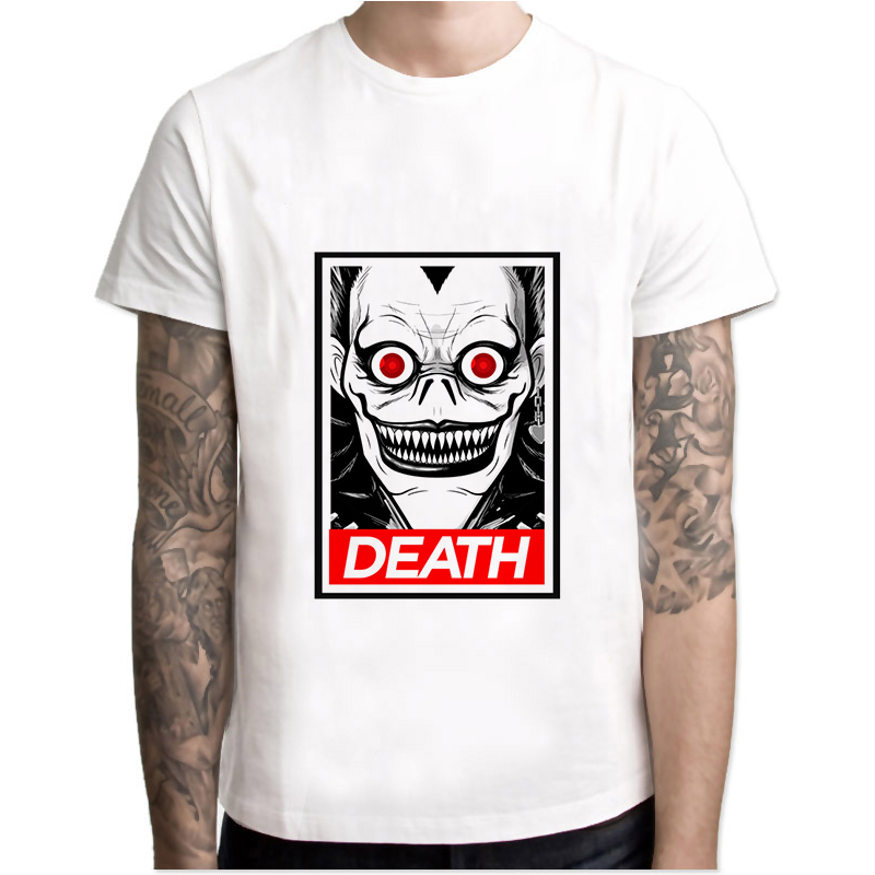 Tops & Tees Men's Clothing Xia00 Death Note 2018 T-shir Short Sleeve Casual Funny Cartoon Tshirt Homme Comfort Plus Size T Shirt T1488