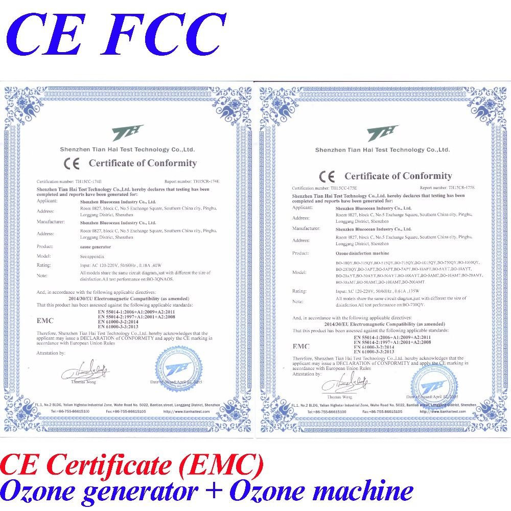 CE FCC vand ozon - Husholdningsapparater - Foto 4