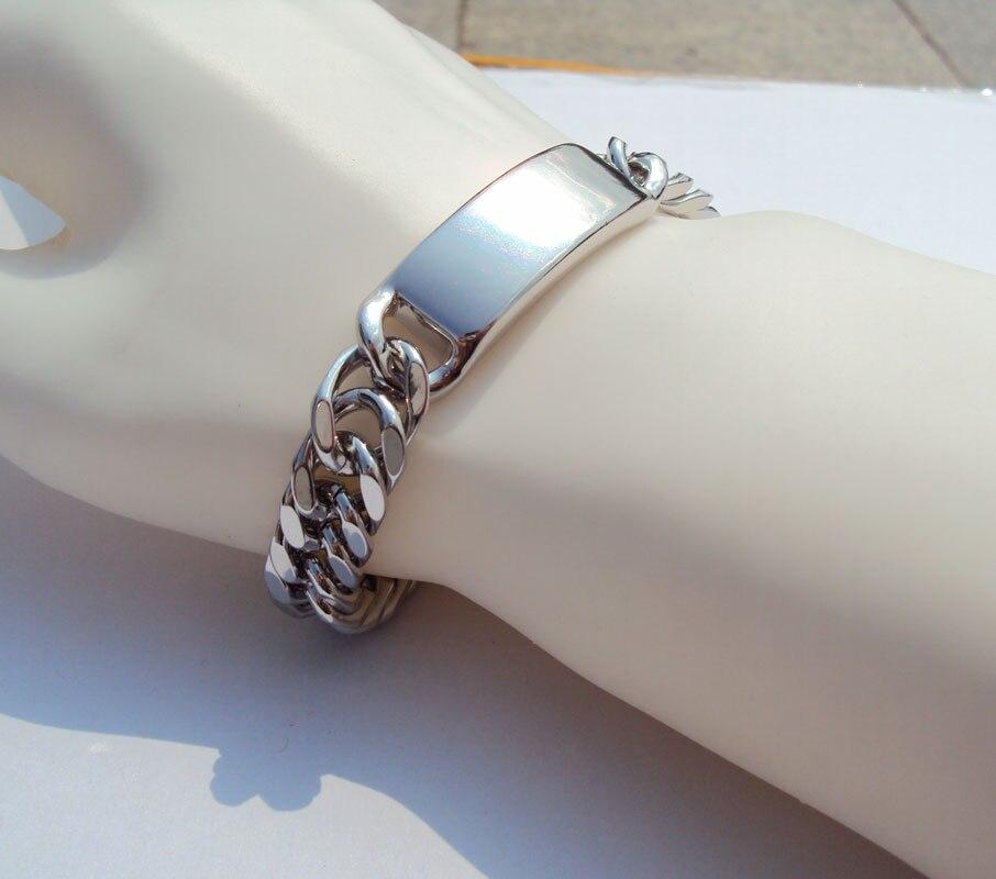 Chain & Link Bracelets Reliable New Arrival Gold Bracelet Men Jewelry18k Gold Color Round 21 Cm 18 Mm Wide Link Chain Bracelets/bangles Wholesale