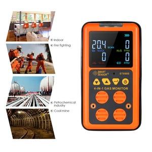 Image 2 - 4 in 1 Dijital LCD Gaz Dedektörü O2 H2S CO LEL Monitör Gaz Analizörü hava kalitesi Izleme Gaz Test Cihazı Karbon monoksit Metre