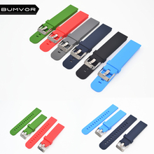 Quick Install Watch Strap 18mm/20mm/22mm for Motorola Moto 360 2 Gen 46mm Samsung Gear2  Silicone Rubber Band Bracelet цена