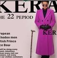 Exclusive rights Zhi-long catwalk same paragraph long section of purple cashmere blazer Men singer stage DJ DS costumes Suit