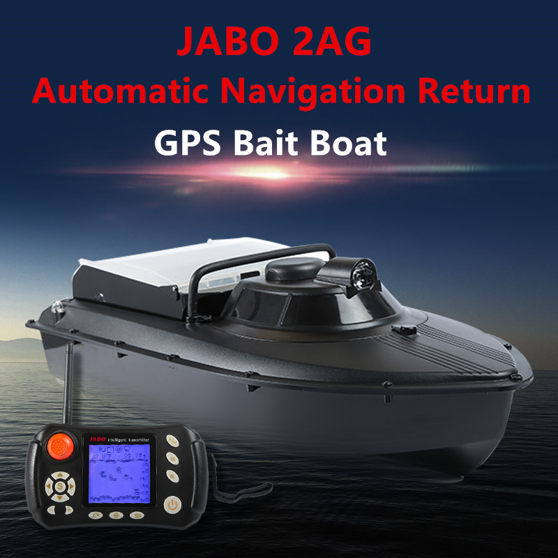 JABO 2AG 20A GPS Auto Navigation Fishing Bait Boat 2.4G GPS Playing nest boat with 8pc target point