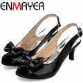 ENMAYER Gladiator Sandals Women Big Size 34-45 New Style Patent Leather High Heels Sandals for Womens Fashion Shoes 6 Colors