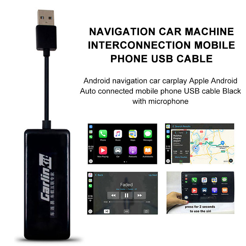 De enlace USB Apple CarPlay Dongle inteligente 5 V Carlinkit coche de  navegación Android Player GPS