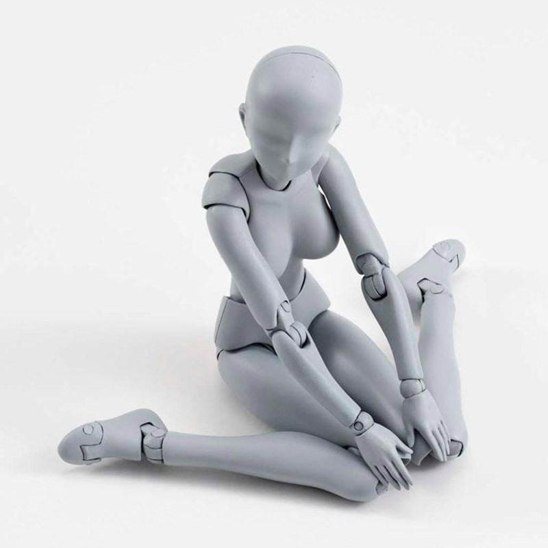 2 Style Body Chan Pale Gray Color 14cm Figma Bandai SHF Ferrite PVC Action Figure Figma (5)