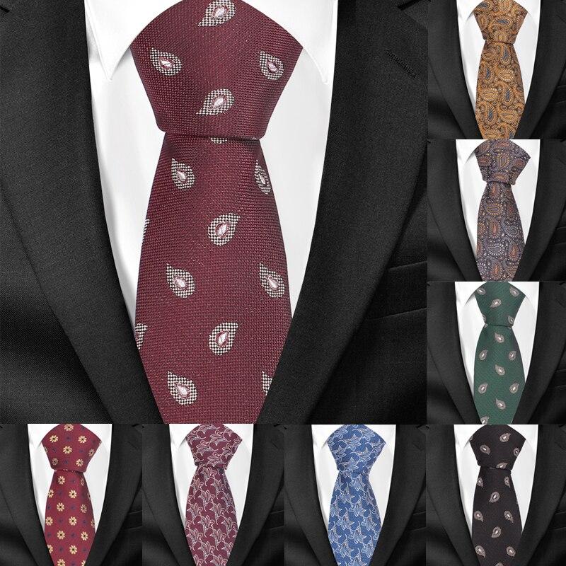 Skinny Paisley Neckties For Men Jacquard Woven Classic Suits Ties Slim Groom Neck Tie Gravatas Slim Corbata Vestidos Men Tie