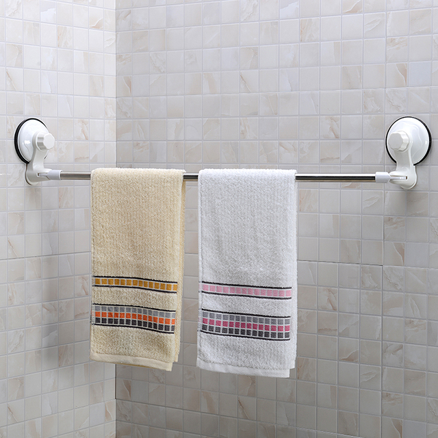 71CM Stainless Steel Corner Towel Bar With Suction Cup Wall Mount ...
