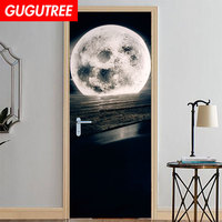 Decorate Home sea moon water wall sticker decoration Decals mural painting Removable Decor Wallpaper LF 733