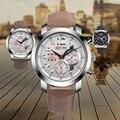 Hot Sale Fabulous Design Retro Liga Analógico Pulseira de Couro Quartz Relógio de Pulso relojes mujer Feb06