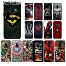 MaiYaCa Marvel Superman jad tarcza Spiderman LOGO etui na telefon do Samsung Galaxy S8 S7 krawędzi S6 S10Plus S10lite S10E S9 plus(China)