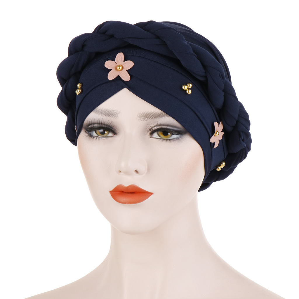 Fashion Muslim Hijab Women Turban Hat Braid Knot Lady Head Scarf Hijab Muslim Inner Hijab for Women Hair Accessories Hair Loss