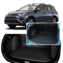 Full Covered Seat Pad Cargo Box Trunk Floor Mat Carpet Liner For Toyota RAV4 2014-2018