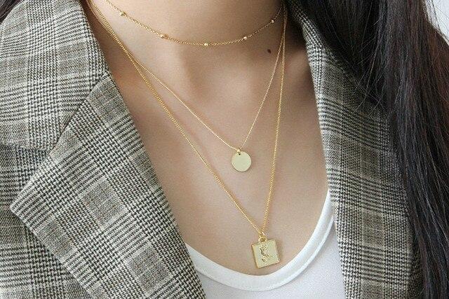Flyleaf Золотые Квадратные ожерелья и кулоны с розами для женщин