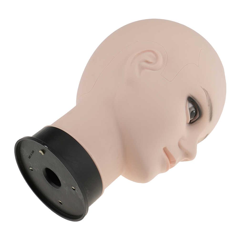Männlichen Mannequin Puppe Kopf Haar Perücke Brillen Halter Hut Display Modell Stander-Haut Farbe/12 zoll Für speichert Salons