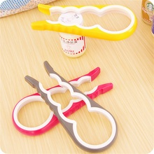 Multifunction 4 in 1 Gourd-shaped Can Opener Screw Cap Jar Bottle Wrench Creative Kitchen Tool