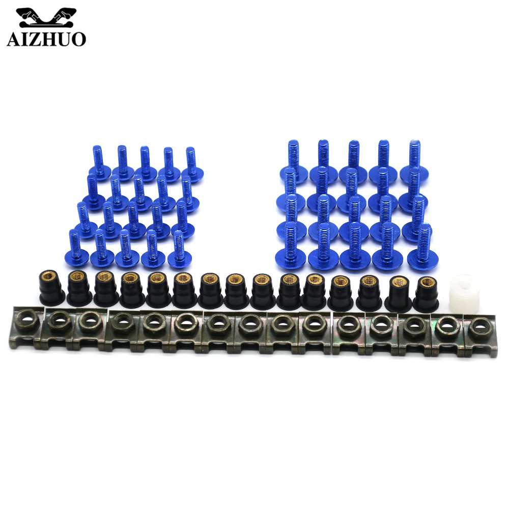 Motorcycle Accessories Aluminum <font><b>Windscreen</b></font> Fairing Bolts Nut Screws Washer for <font><b>suzuki</b></font> GSX1250F GSX1400 <font><b>GSX650F</b></font> HAYABUSA/GSXR1300 image