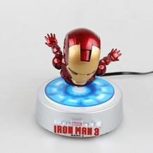 [Limited] вращающийся Летающая Iron man МК Магнитная плавающий ver. С светодиодный свет Железный человек фигурку коллекция игрушка в подарок