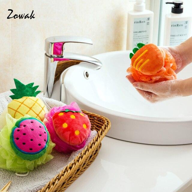 Bath Shower Sponge Baby Bath Flower Cute Fruit Shape Lovely Soft ...