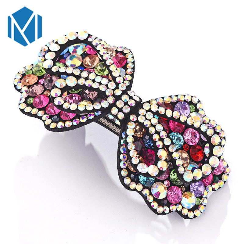 M MISM Fashion Boutique Glitter Hairpins Women Rhinestones Alloy Butterfly Shape Hair Accessories Clip Barrette Hairgrip - Twinkling Jewelry store