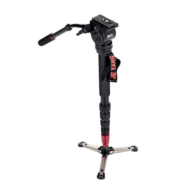 JIEYANG JY-0506 JY0506 aluminium professionnel monopode vidéo trépied charge 4 KG pour caméra avec trépieds tête et sac de transport