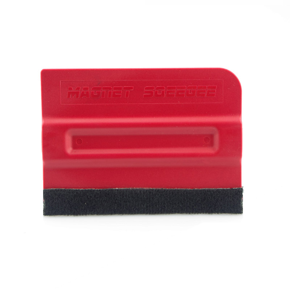 Image 2 - Magnetic Squeegee w/ Suede Felt Edges Vinyl Car Wrap Graphic Tool Non Scratch MO 140F-in Car Stickers from Automobiles & Motorcycles