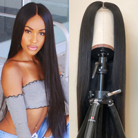 Mellow Lace Front Human Hair Wigs Human Hair Line Brazilian Straight Long Lace Frontal Wig With Baby Hair Remy For Women