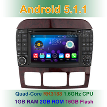 Android 5.1.1 Car DVD Multimedia Player For Mercedes/Benz S/CL Class W220 W215 S280 S430 S500 S55 CL600 CL55 Wifi GPS Radio BT