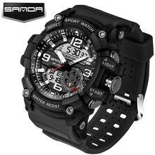 Сандалии Военное дело спортивные часы Для мужчин лучший бренд класса люкс известный электронный светодиодный цифровой наручные Часы для Для мужчин мужской часы Relogio Masculino